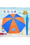 Голям чадър за плаж BAILS extra - диаметър 220 см с UV защита